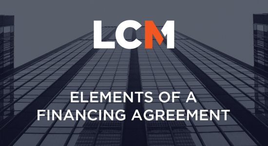 5. Elements of a Financing Agreement